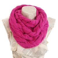 Fuchsia infinity Scarf, Women Scarves, Knitting scarf, Winter Accessories, Outfits