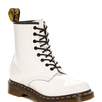 1460 White Patent Leather Boot (Unisex)