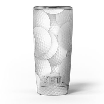 Golf Ball Overlay - Skin Decal Vinyl Wrap Kit compatible with the Yeti Rambler Cooler Tumbler Cups