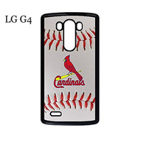 LG G4 Case Cover Protection Design MLB St. Louis Cardinals Baseball Sports Team Logo Ultra Slim Snap on Hard Plastic Phone Accessories for Men Collection Ballistic