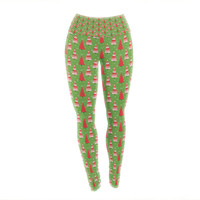"Julie Hamilton ""Juniper"" Christmas Trees Yoga Leggings"