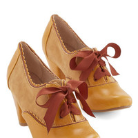Chelsea Crew Vintage Inspired Party All the Timeless Heel in Mustard