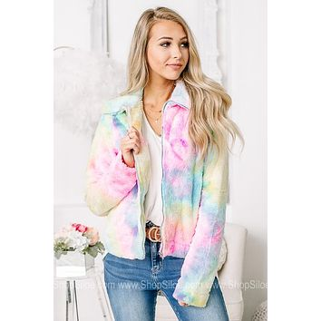 Somewhere Over The Rainbow Sherpa Zip Up