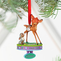 Disney Store 2016 Bambi & Thumper Sketchbook Christmas Ornament New with Tags