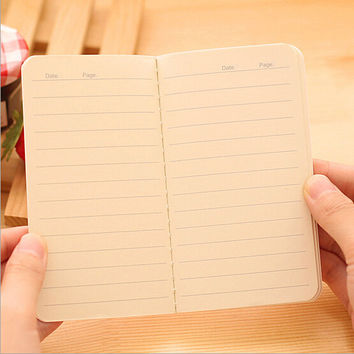1 Pieces Korean Creative Stationery Notepad Office Supplies School Cute Cartoon Printing Filofax Notebook Diary Students