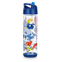 Zootopia Water Bottle With Sipper Straw