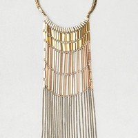 AEO Women's Collar & Chains Statement Necklace (Gold)