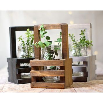 12 Wood Box Centerpieces Bulk, Wishing Well Basket