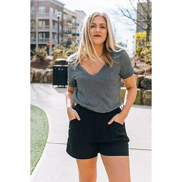 When In Rome Tee {Charcoal}