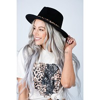 Wide Brim Fedora Leopard Hat (5 Colors to Choose From)