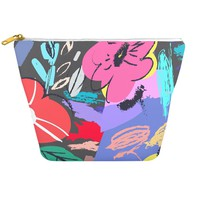 Mexico City Floral Cosmetic Bag