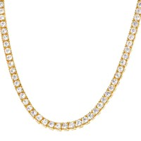 "5mm Solitaire 22"" One Row Tennis Choker Necklace"