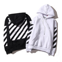 Hot Real Off White Hoodie With the Off-white Tags Exo GD Religious Fleece Hoodie Sweatshirts Cotton Hoodies Blcakc White Colors