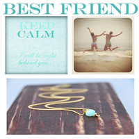 Best Friend Jewelry, Peruvian Opal Necklaces,  Dainty Gift Ideas, Bridesmaid Gifts, Matron of Honor Gifts