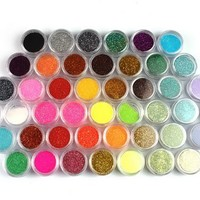 45 Colors Nail Art Make Up Body Glitter Shimmer Dust Powder Decoration:Amazon:Beauty