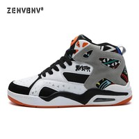 Zenvbnv Men Shoes Court Male Superstar Jordan Basketball Ankle Boots for Female Man Pu Anti-Slip Sports Sneakers Big Size 38-46