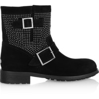 Jimmy Choo - Youth studded suede ankle boots