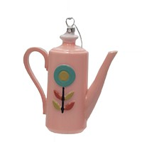 Holiday Ornament Vintage Coffee Pot Ornament Mid Century Kitsch - GO6848
