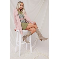 Giselle Hooded Cardigan (Mauve)