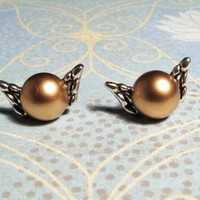 Winged Ball Stud Earrings, inspired by Harry Potter's Golden Snitch
