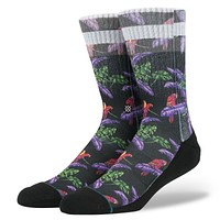 Stance Perched Socks In Black