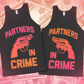 Partners In Crime / Dark And Light Matching BFF Tanks 26 - 32 $