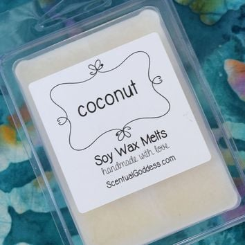 COCONUT Wax Melts - Tropical Coconut Scented Soy Wax Melts