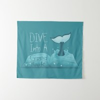 Dive into a Good Book Tapestry