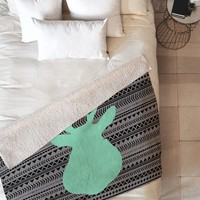 Allyson Johnson Deer And Aztec Fleece Throw Blanket