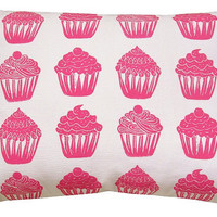cupcake accent sham pillow or travel pillow