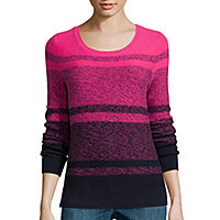 Liz Claiborne® Long-Sleeve Ombré Marled Sweater - JCPenney