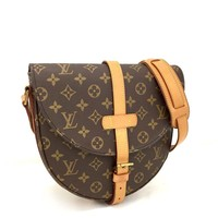 100% Auth Louis Vuitton Chantilly GM Monogram Crossbody Shoulder Bag/a132