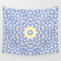 Deep States (Mandala) Wall Tapestry by Elias Zacarias
