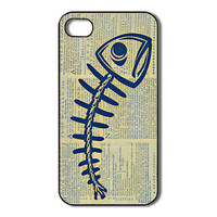 Fishbone iPhone 4 /4s / 5 Case / Cover. Silicone Rubber / Hard Plastic