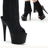 Suede Fringe Stripper Ankle Boot | Sassy Assy Shoes