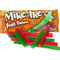 Mike and Ike Fruit Twists Candy Packs - Green Apple & Watermelon: 18-P