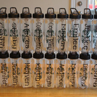 Personalized Sports Bottle: CheerLeader 24 oz Water Bottle, Custom Design With Your Choice of Theme