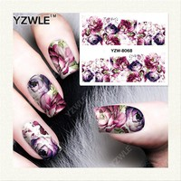 Vintage style Flower Print Nail Art Decal