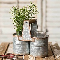 Rustic Can Caddy with Two Jars