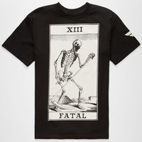 Fatal Death Card Mens T-Shirt Black  In Sizes