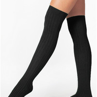Ribbed Modal Over-the-Knee Sock | American Apparel
