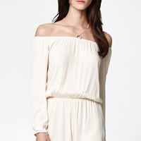LA Hearts Off-The-Shoulder Long Sleeve Romper at PacSun.com
