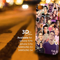 Teen Wolf - Dylan O'brien collage (an) 3D iPhone Case for iPhone 4/4S, iPhone 5/5S and,Samsung Galaxy S3, S4