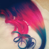Rainbow Dipped Dyed Hair Human Hair Extensions. by Cloud9Jewels