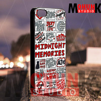 One Direction Midnight Memories - iPhone 4/4s/5/5s/5c Case - Samsung Galaxy S3/S4 - Blackberry z10 Case - Black or White