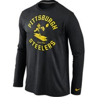 Pittsburgh Steelers NFL Retro Stamp It Long Sleeve T-Shirt