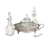 IMAX 7 Piece Baker Brass and Glass Table Set