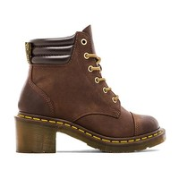 Dr. Martens Alexandra 6-Eye Padded Collar Boot in Brown