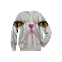 Funny Cat Sweatshirt created by ErikaKaisersot | Print All Over Me