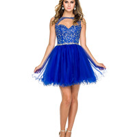 Royal Embellished Cutout Tulle Dress 2015 Homecoming Dresses